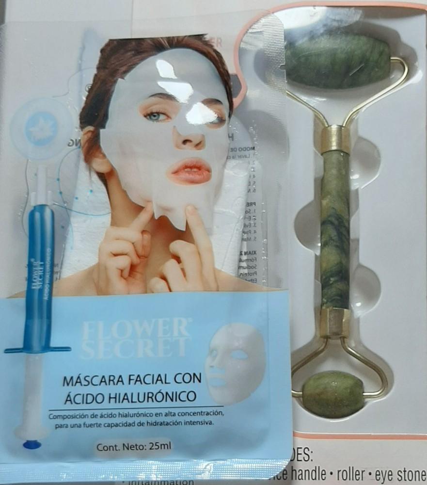 Promoción - Rodillo facial jade + mascarilla de acido hialuronico concentrado