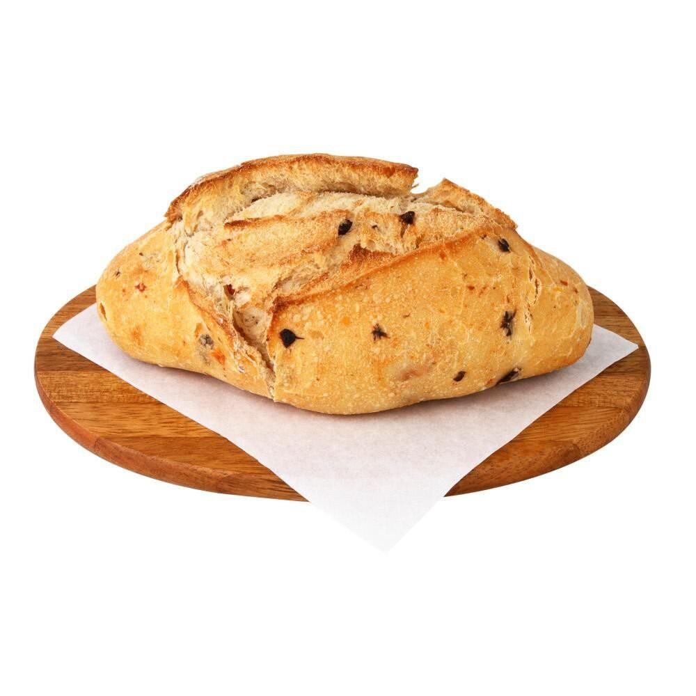 Pão de fermentação natural tomate seco e azeite