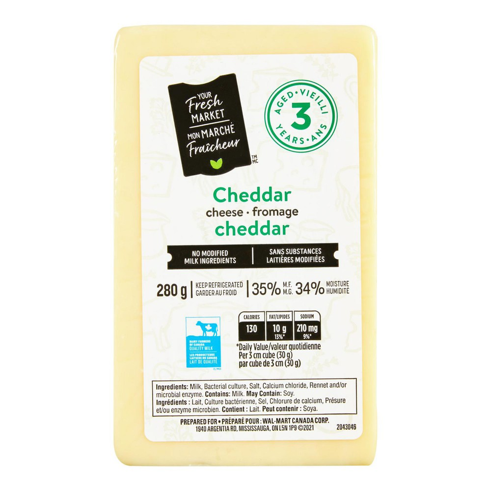 Cheddar cheese aged 3 years