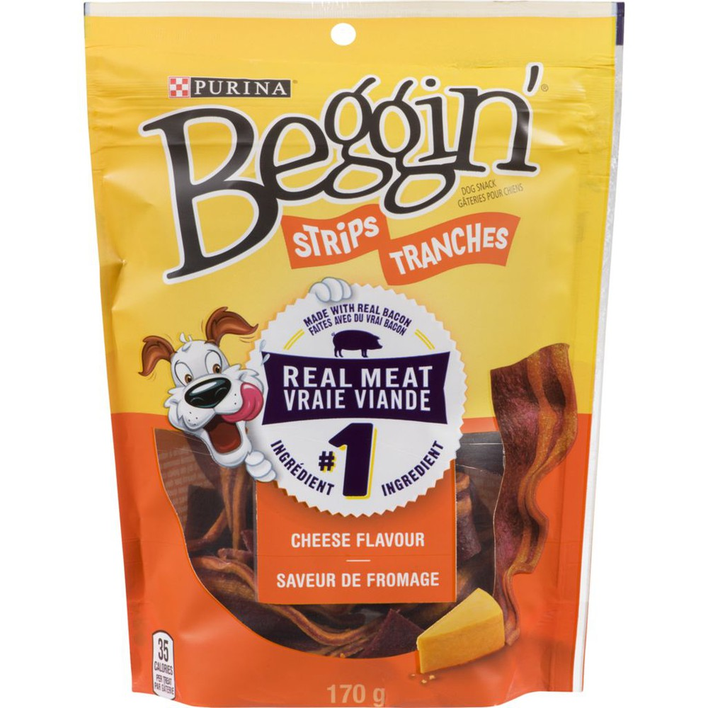 Strips® Bacon & Cheese Flavours Dog Snack 170 g