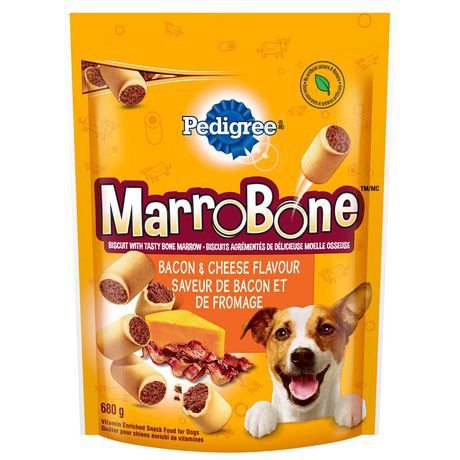 Marrobone vitamin enriched treats for dogs bacon & cheese flavour