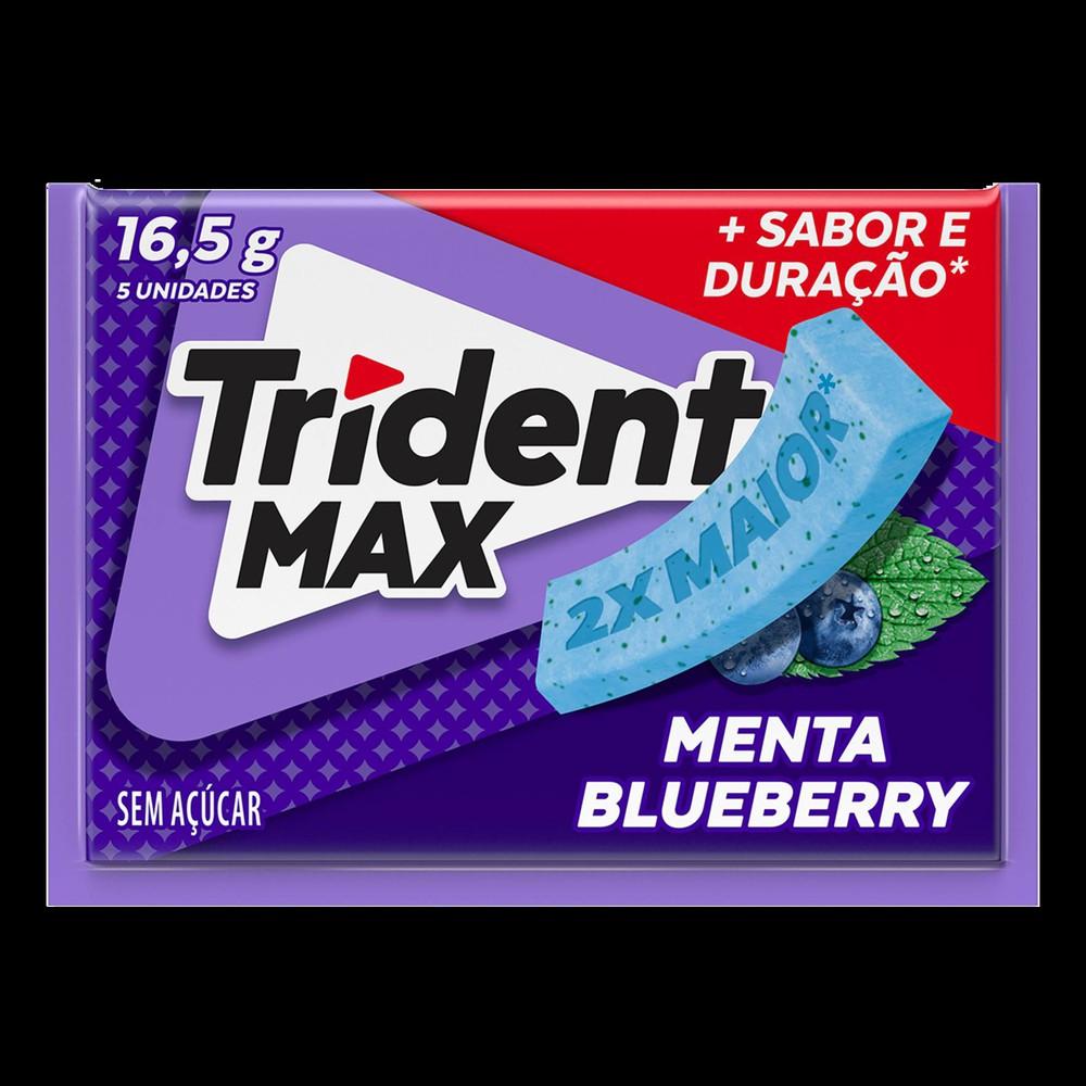Goma de mascar Max sabor menta e blueberry
