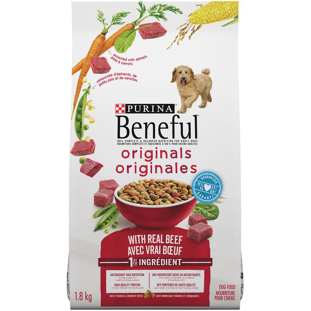 Originals with beef dog food