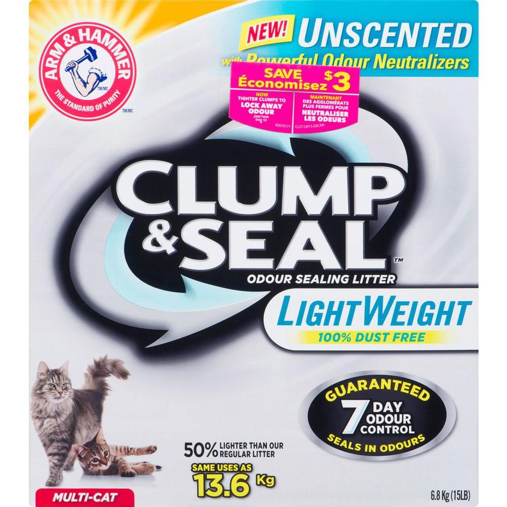 Clump & Seal Odour Sealing Litter Unscented Light Weight Multi-Cat