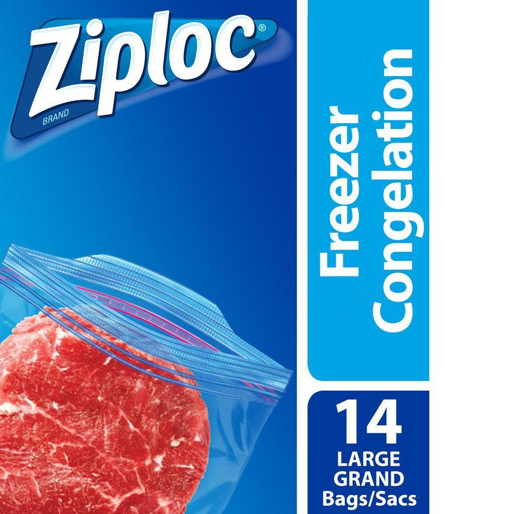 Grip'n seal freezer bags L