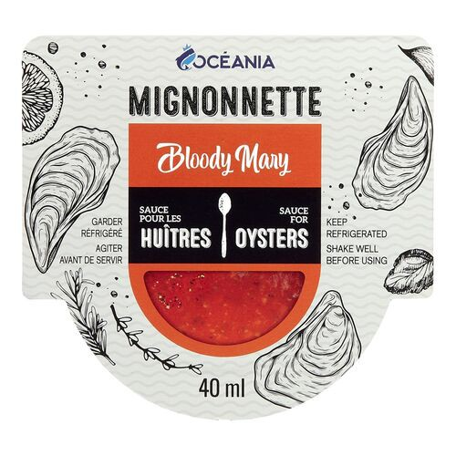Mignonnette bloody mary sauce