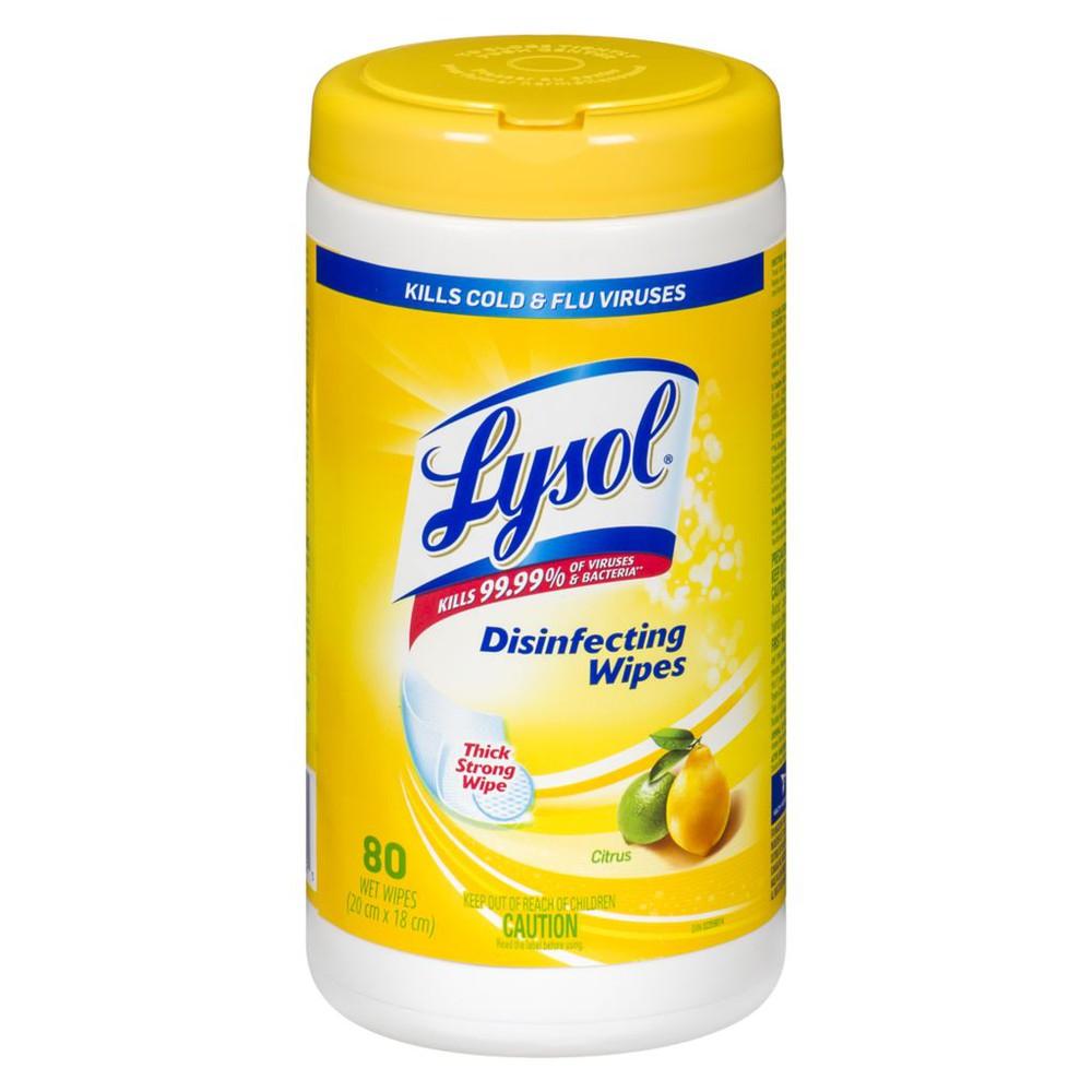 Disinfecting wipes citrus
