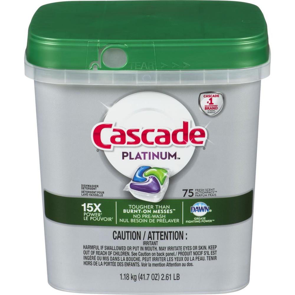 Platinum action pacs dishwasher detergent fresh scent