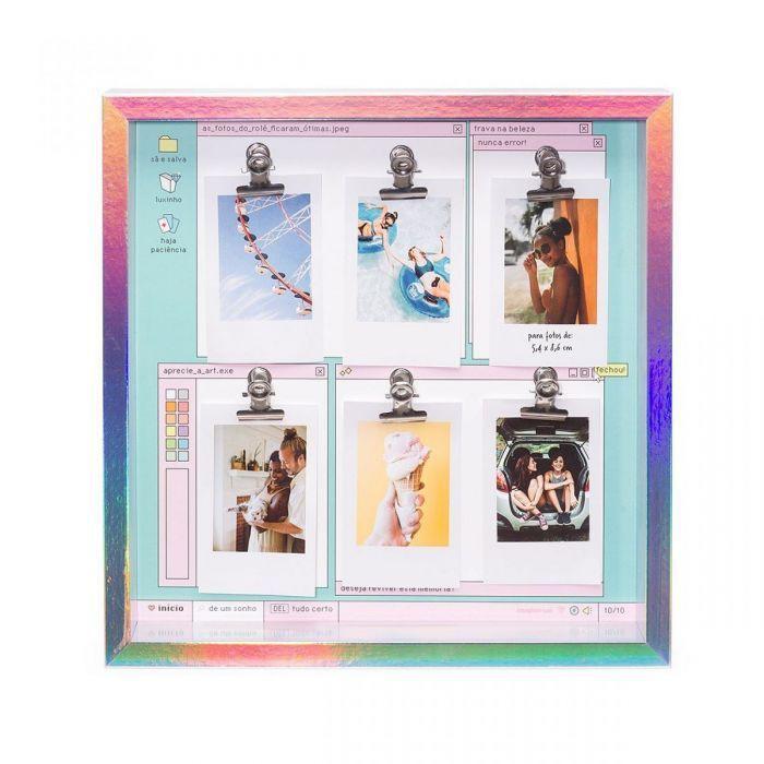 Painel de fotos holográfico meus ícones