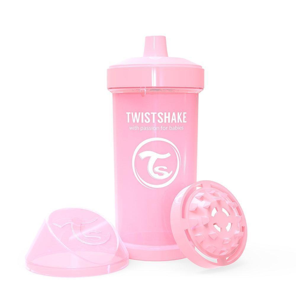Kid cup vaso antiderrame 360ml rosado pastel