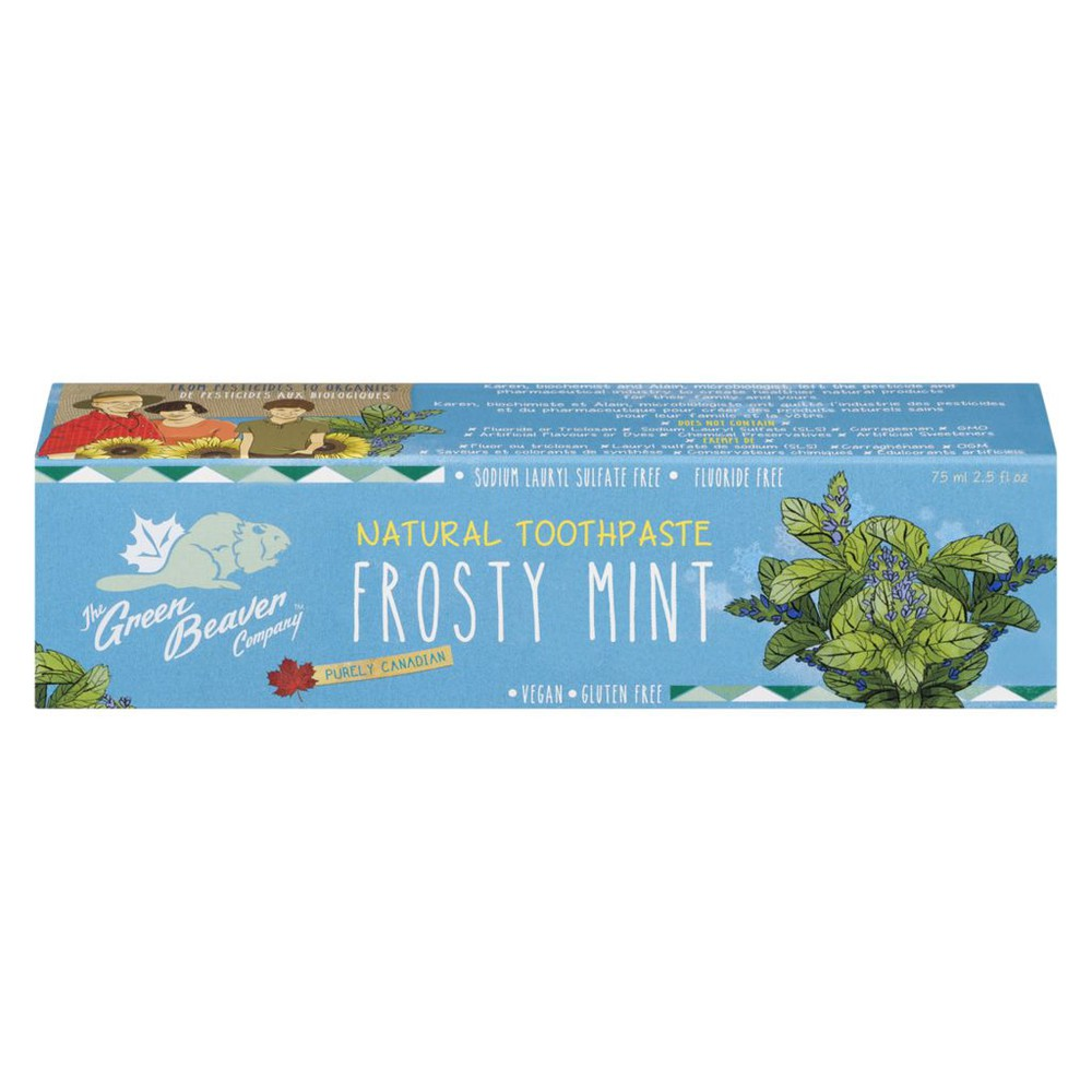 Frosty mint natural toothpaste