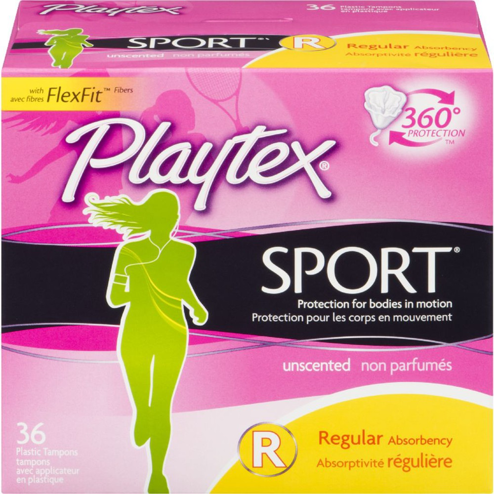 SportRegular Unscented Plastic Tampons