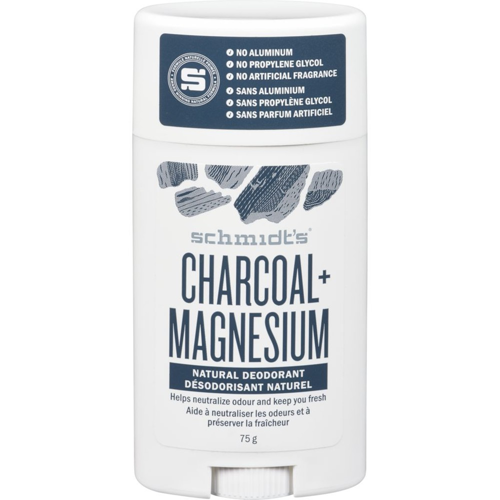 Schmidt's Naturals Deodorant Stick Charcoal and Magnesium