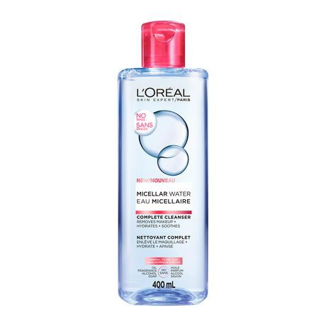 SkinActive Micellar Cleansing Water All-in-1 Cleanser & Makeup Remover, Dry Skin