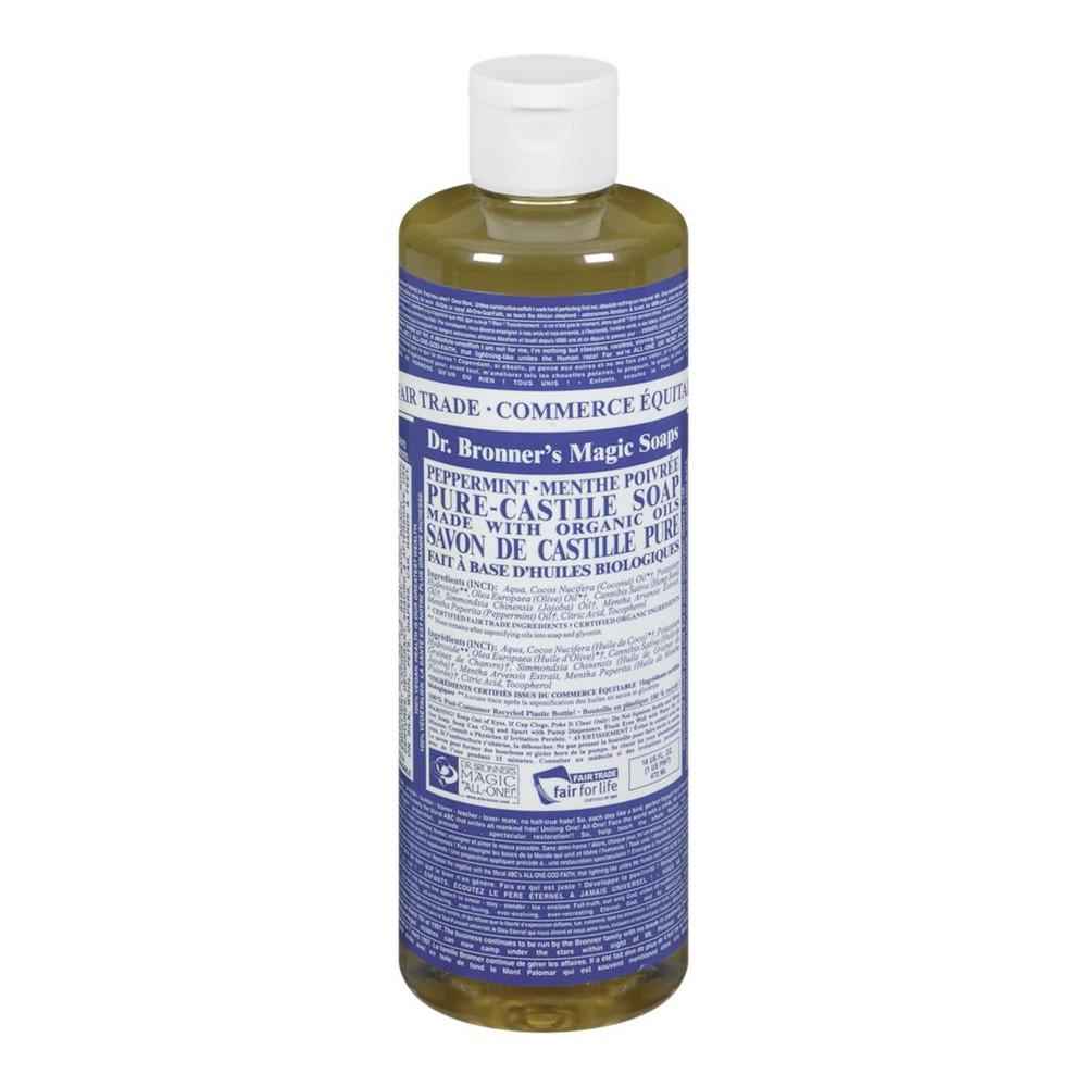 Pure castile liquid peppermint soap