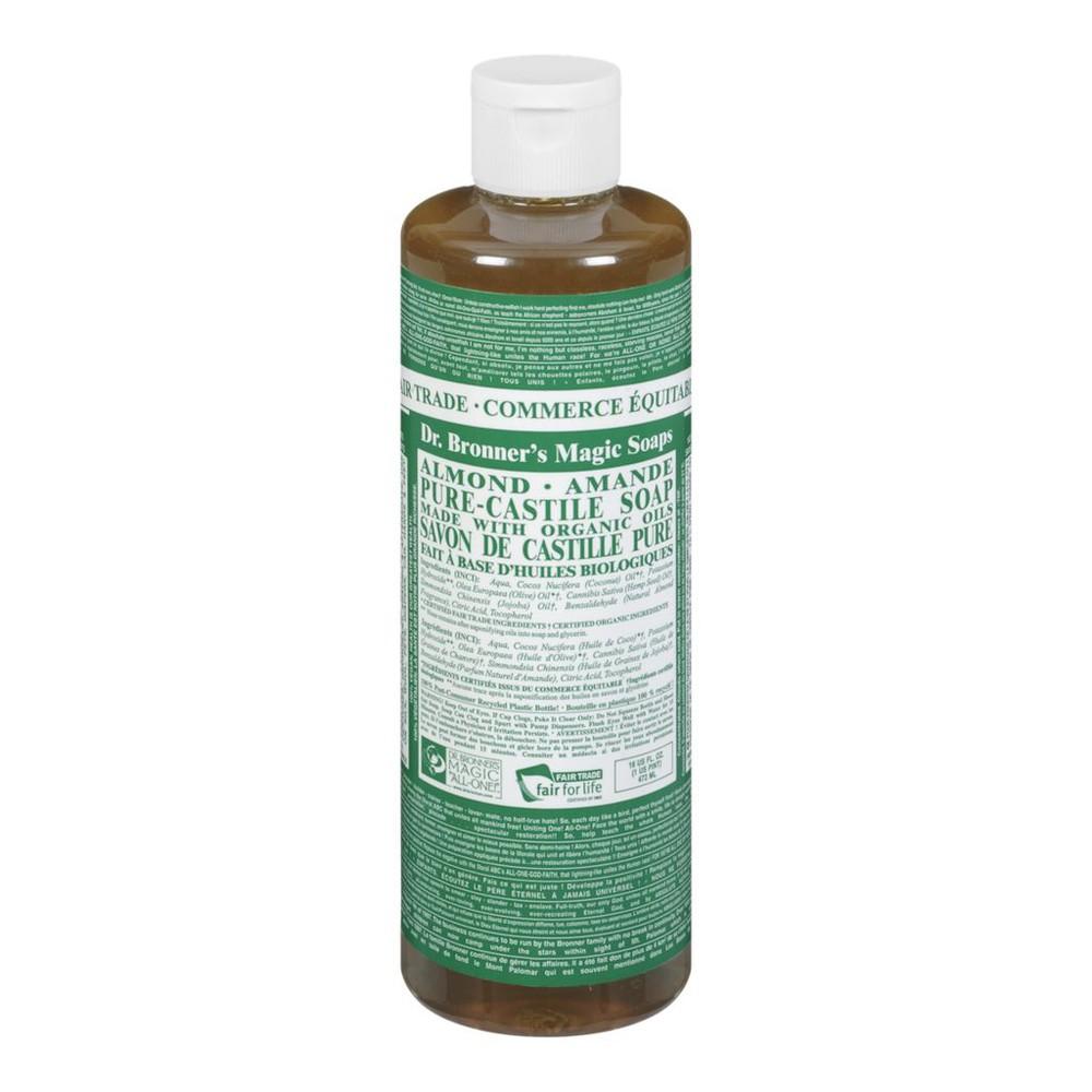 Pure almond castile liquid soap