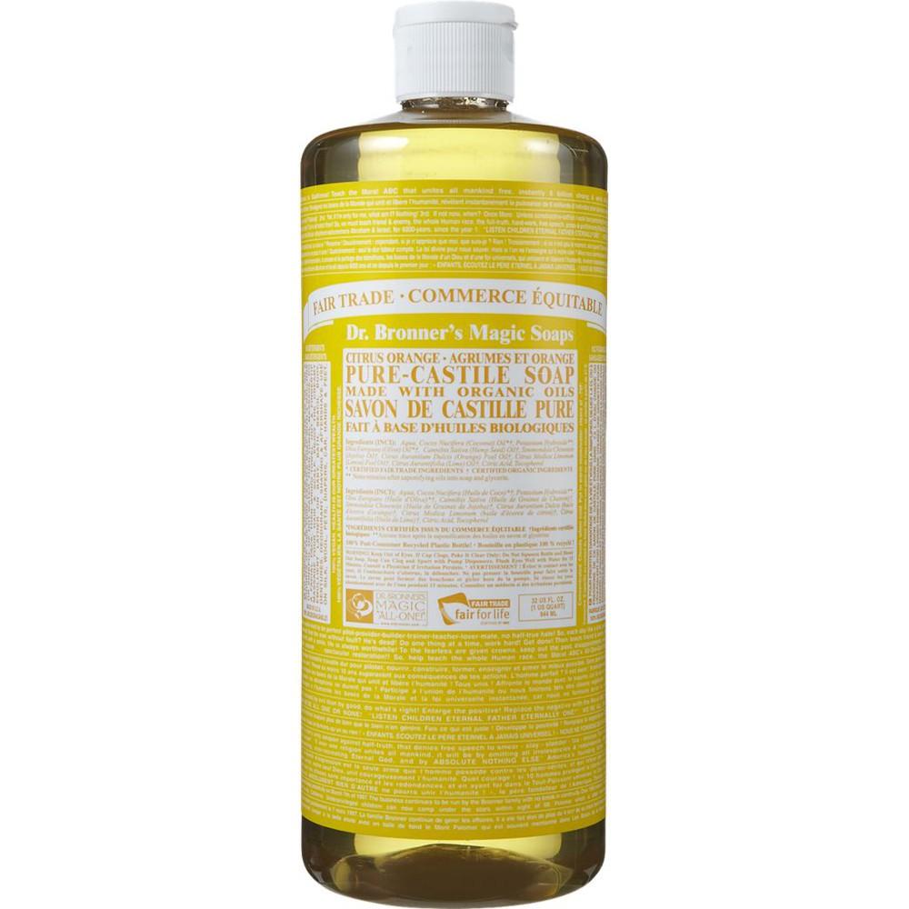 Pure Castile liquid soap citrus orange