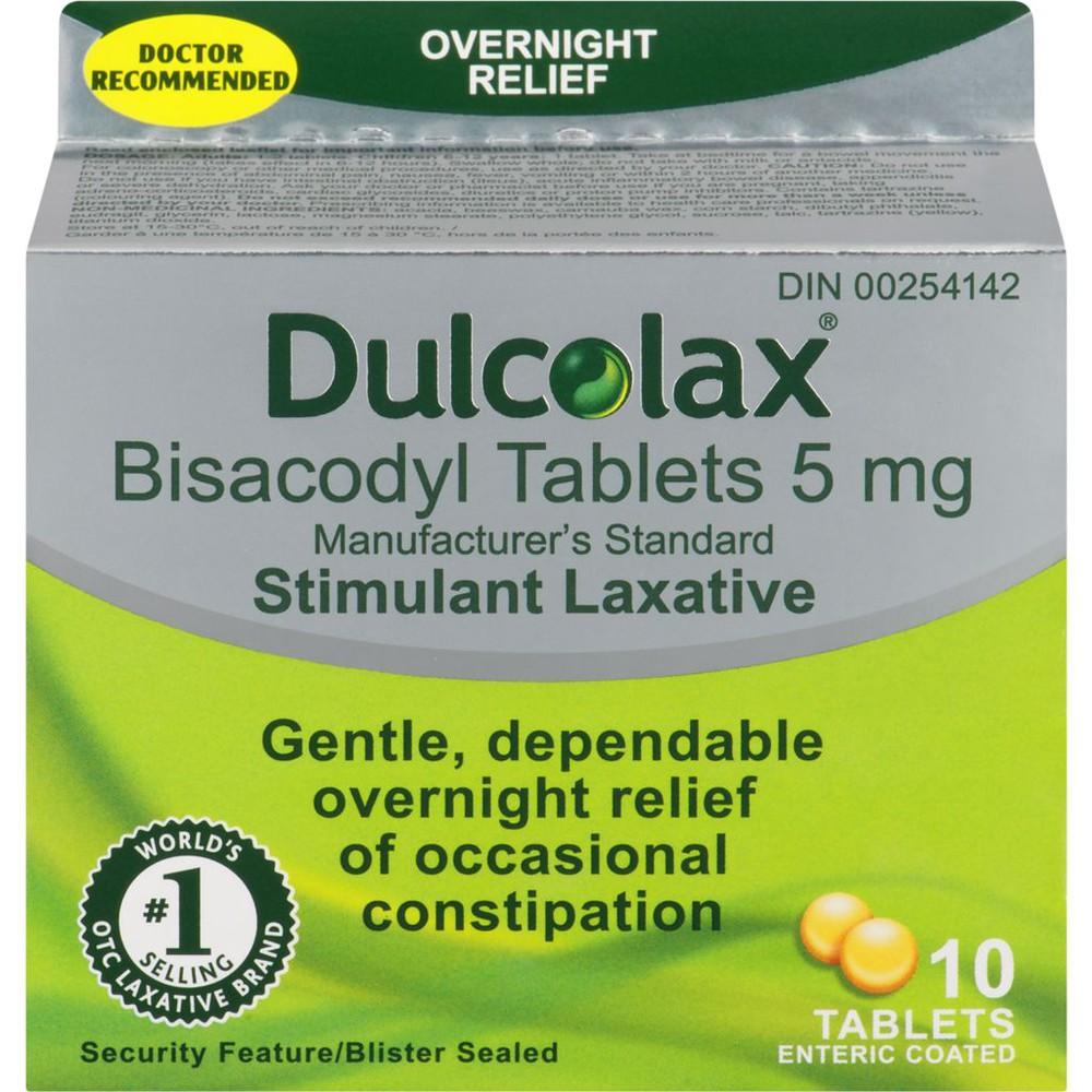 Bisacodyl tablets 5 mg 10 units