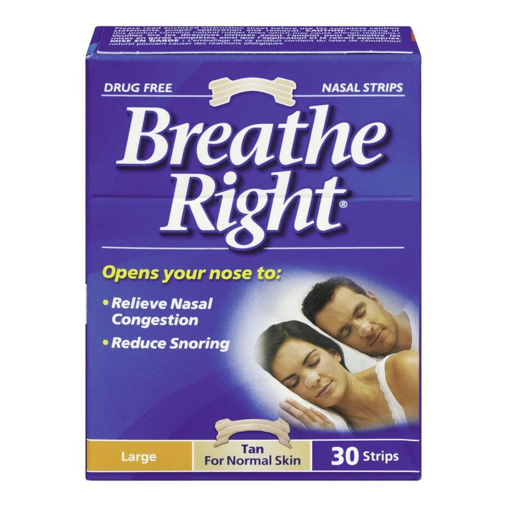 Breathe Right Nasal Strips Tan, L