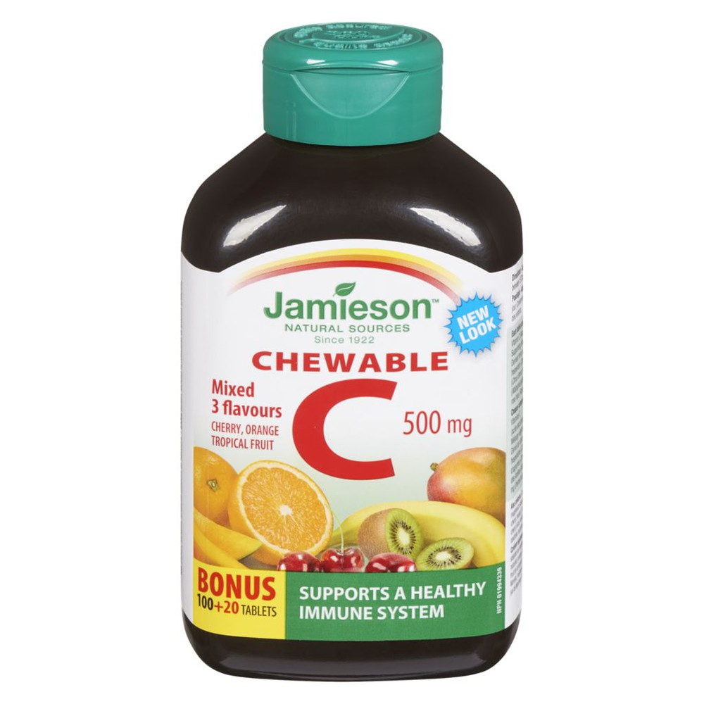 Chewable Vitamin C 500mg, Mixed Flavours