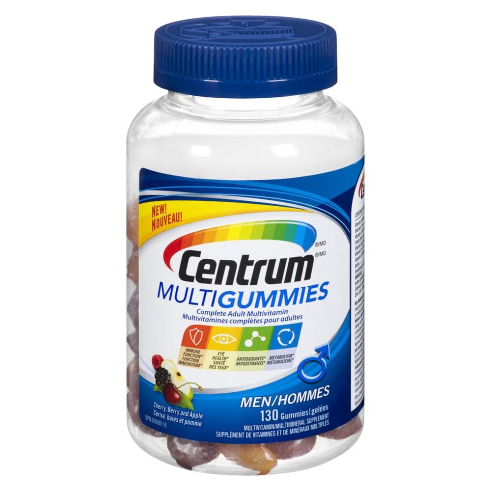 MultiGummies Cherry, Berry and Apple Men Complete Adult Multivitamin 130 Gummies