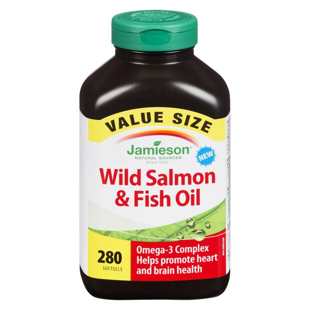 Wild Salmon & Fish Oils Omega-3 Complex 1000MG