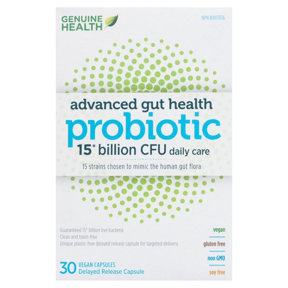 Advanced gut health probiotic 15 billion CFU capsules