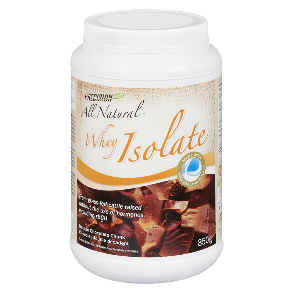 All Natural whey isolate double chocolate chunk protein 850 g