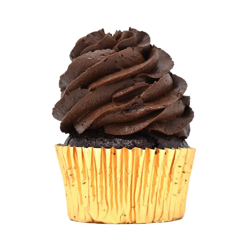 Cupcake de chocolate con caramelo
