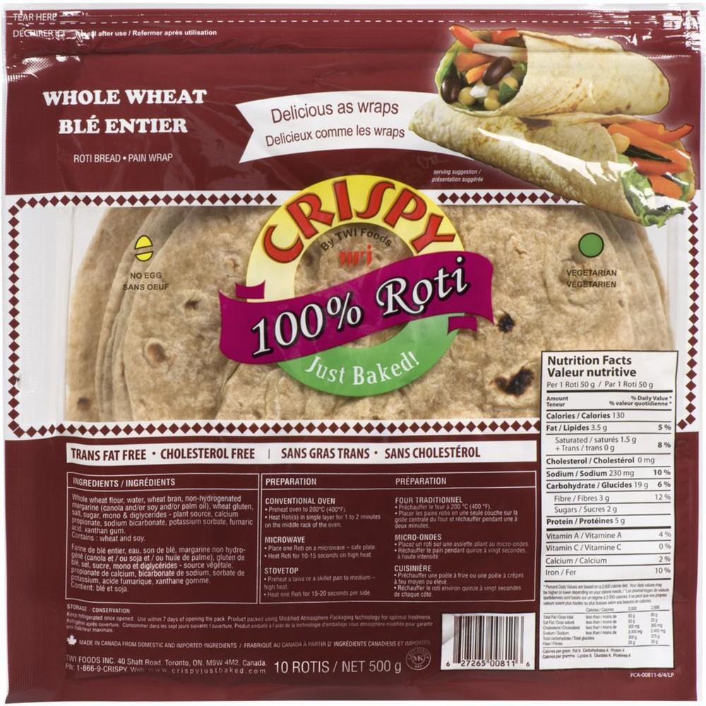 Crispy Roti, Whole Wheat