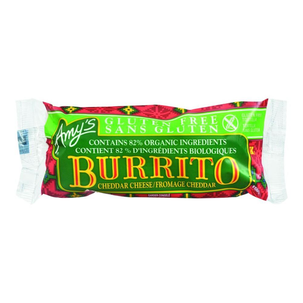 Gluten-Free Burrito, Cheddar Cheese