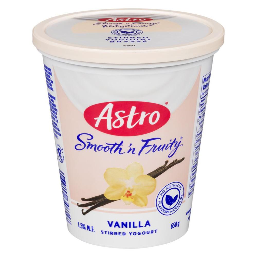 Smooth 'N Fruity Yogurt, Vanilla