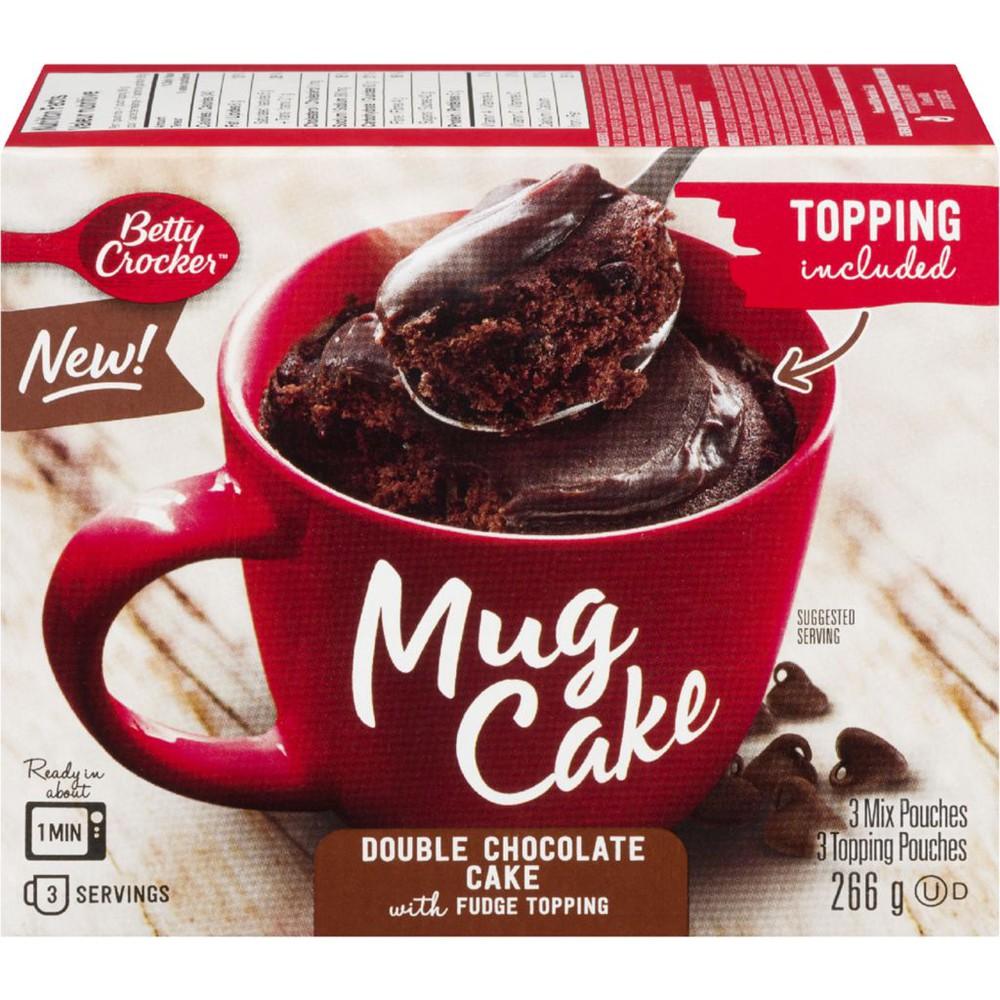 Mug Cake Double Chocolate Cake with Fudge Topping