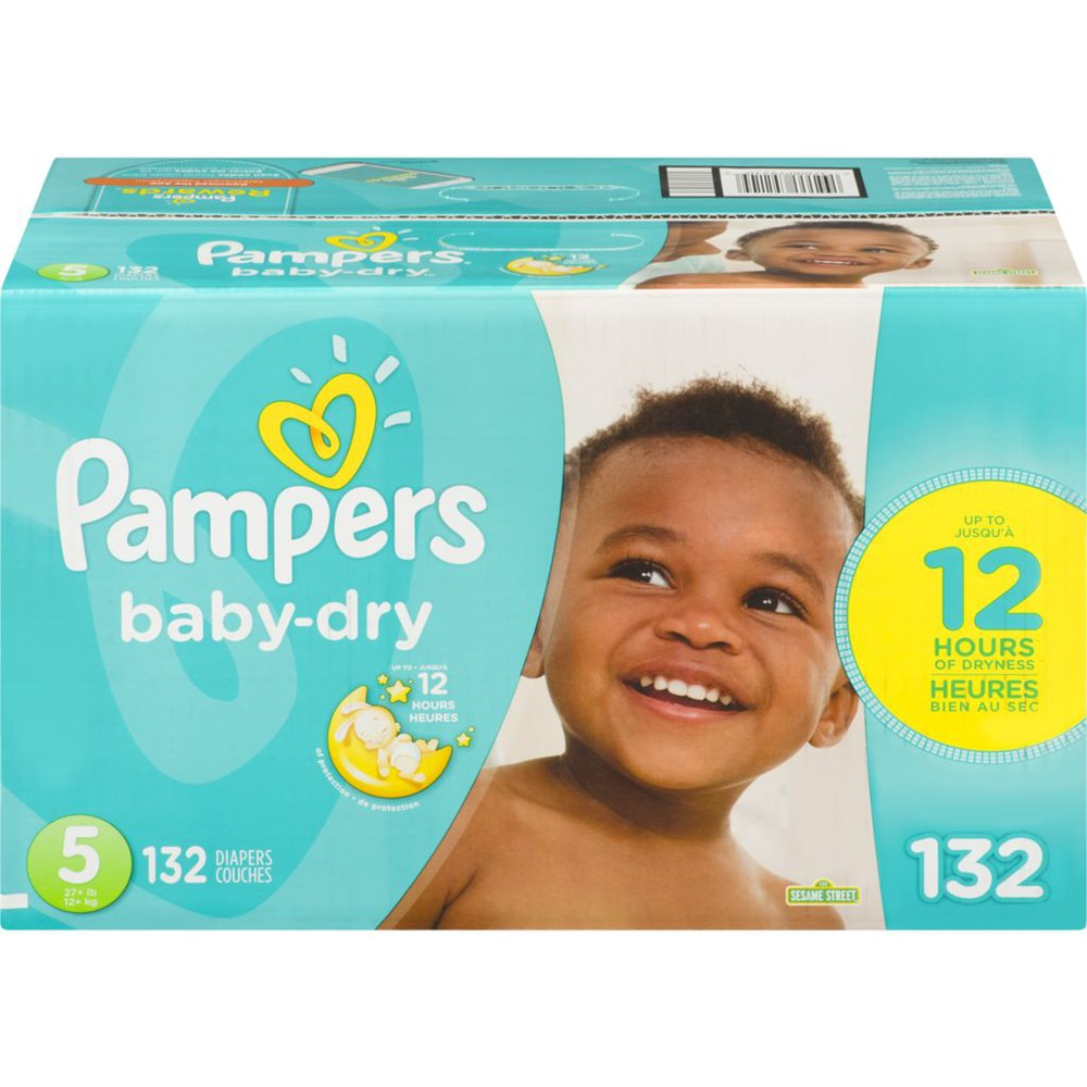 Baby Dry Diapers Size 5 132 Count