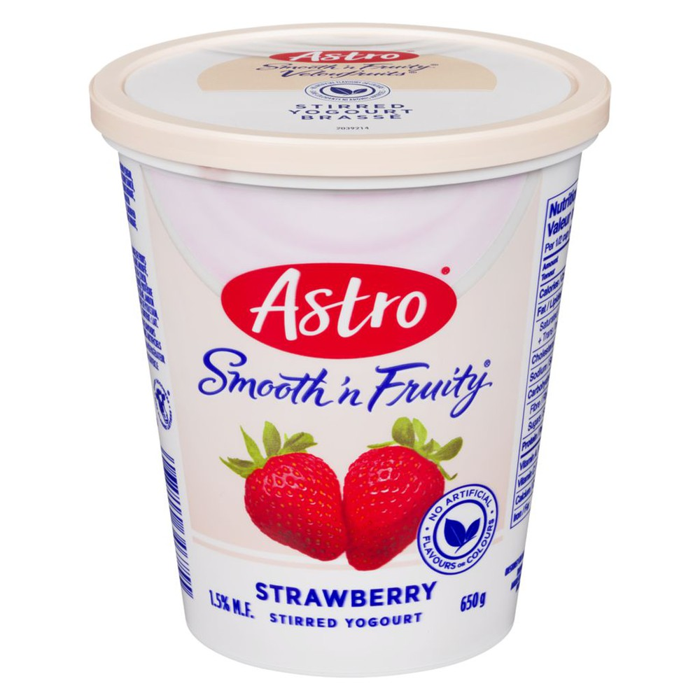 Smooth 'N Fruity Yogurt, Strawberry