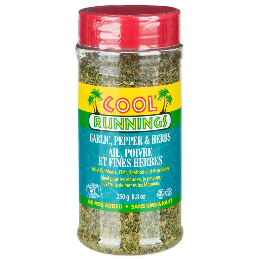 Garlic, pepper & herbs