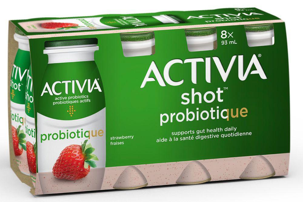 Probiotic yogurt drink strawberry