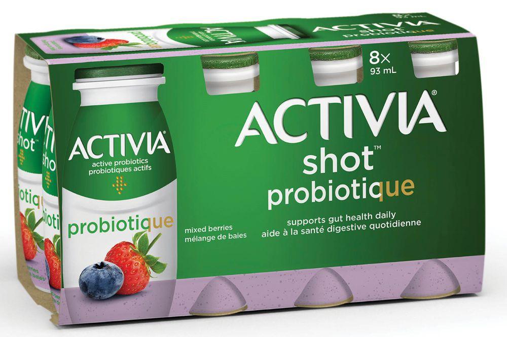 Probiotic yogurt drink mixed berries