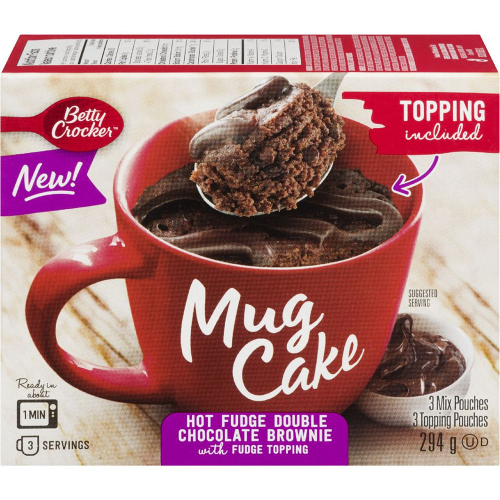 Mug Cake Hot Fudge Double Chocolate Brownie with Fudge Topping