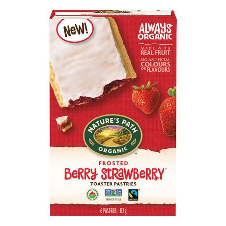 Frosted berry strawberry toaster pastries