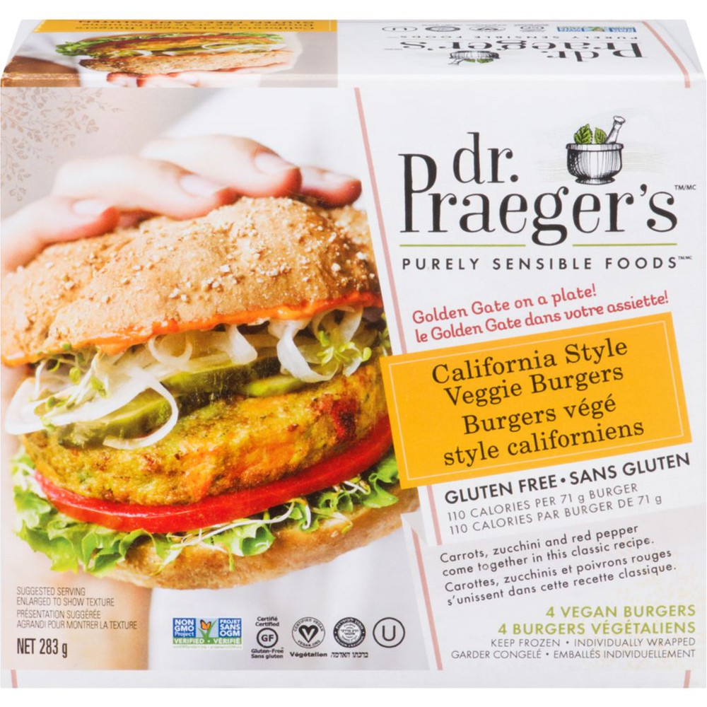 Purely Sensible Foods Veggie Burgers California Style 4 Vegan Burgers