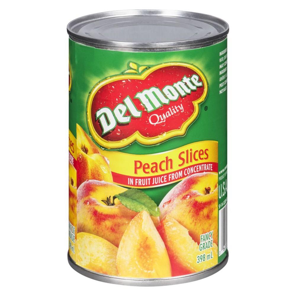 Peach slices in juice