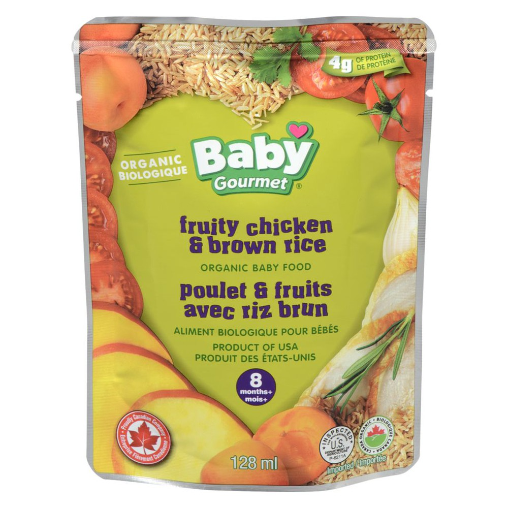 8 Months+, Fruity Chicken & Brown Rice