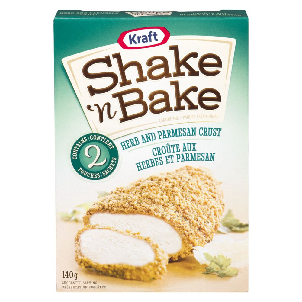 Shake 'n bake herb & parmesan crust