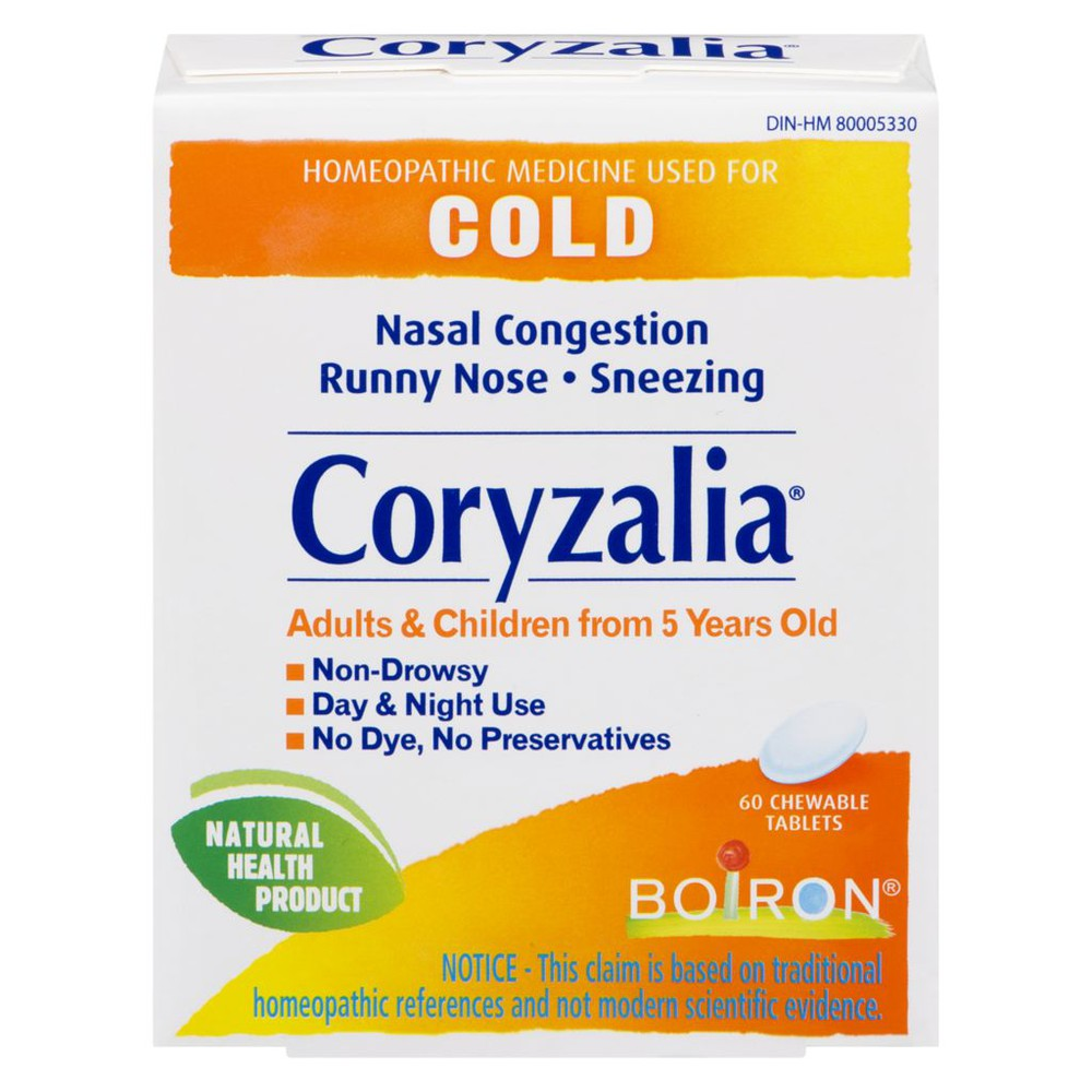 Coryzalia cold relief chewable tablets