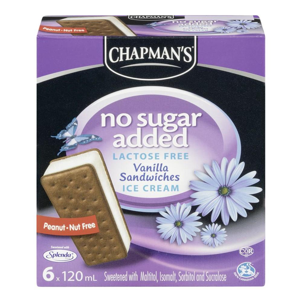 No Sugar Added Ice Cream Sandwiches, Vanilla