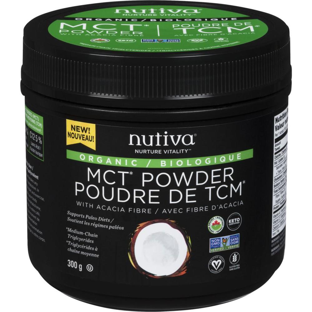 Organic MCT powder with acacia fibre organic