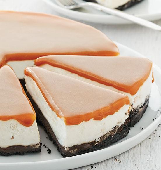 Caramel Pecan Ice Cream Cake