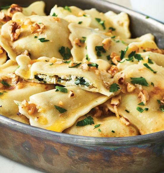 Cheese and Spinach Jumbo Ravioli