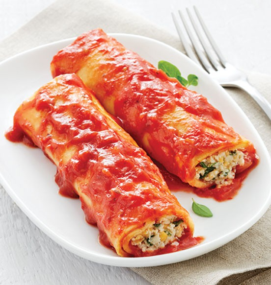 Cheese and Spinach Cannelloni